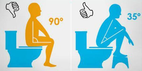 Как правильно сидеть на унитазе: объяснения + картинки