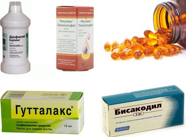 Слабительные препараты: виды, список средств + продукты